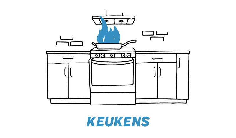 Keukenreparatie met schade