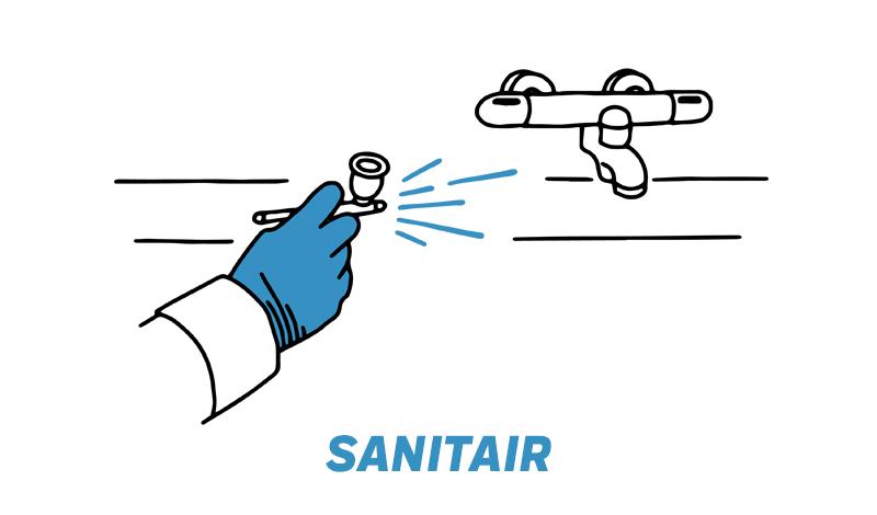 Sanitair reparatie na schade