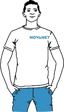 Onze collega aan het werk bij Novanet