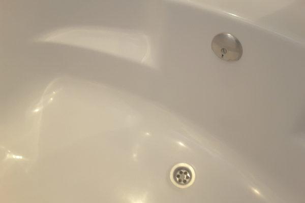 Gat in bad gerepareerd