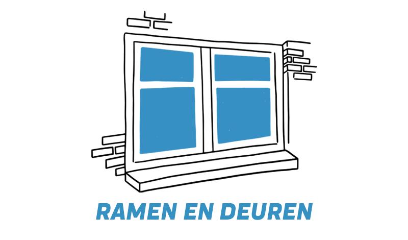 Repareren van ramen en deuren met schade